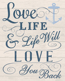 Love your Life Giclee Print by Tom Frazier