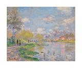 Spring by the Seine, 1878 Premium Giclee Print by Claude Monet