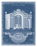 Garden Treillage Blueprint II Giclee Print by Vision Studio
