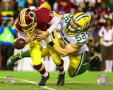 Clay Matthews 2015 Playoff Action Photo