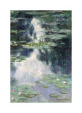 Pond with Water Lilies, 1907 Premium Giclee Print by Claude Monet