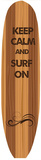 Keep Calm & Surf On Plaque en métal