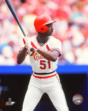 Willie McGee 1985 Action Photo