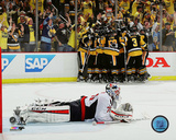 The Pittsburgh Penguins celebrating winning in overtime 2016 NHL Stanley Cup Playoffs Photo