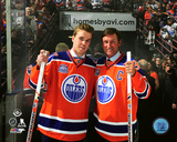 Connor McDavid & Wayne Gretzky Rexall Place Final Game- April 6, 2016 Photo