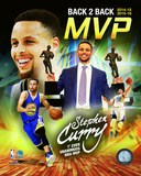 Stephen Curry 2016 Back to Back MVP Portrait Plus Photo