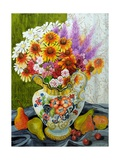 Victorian Jug with Mixed Flowers,Pears and Cherries, 2010 Giclee Print by Joan Thewsey