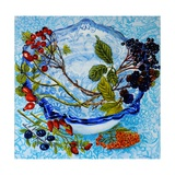 Blue Antique Bowl with Berries, 2010 Giclee Print by Joan Thewsey