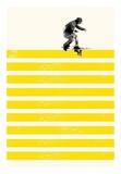 Slide in Stripes Poster by Robert Farkas