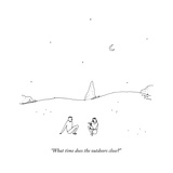 """What time does the outdoors close?"" - New Yorker Cartoon Premium Giclee Print by Liana Finck"