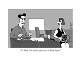 """Oh, Herb. Not another open letter to Miley Cyrus."" - New Yorker Cartoon Premium Giclee Print by J.C. Duffy"