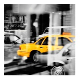 Yellow Taxi Reflection Posters by  PhotoINC Studio