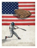 American Sports: Baseball 1 Prints by  GraphINC
