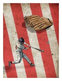 Amercan Sports: Baseball 2 Poster by  GraphINC