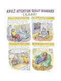 Adult Attention Deficit - New Yorker Cartoon Regular Giclee Print by Roz Chast