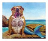 Mermaid Dog Affiches par Lucia Heffernan
