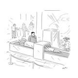 Kim Jong Un Missile in Airport Security - Cartoon Regular Giclee Print by Kim Warp