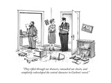 """They rifled through our drawers, ransacked our closets, and completely re... - New Yorker Cartoon Premium Giclee Print by Tom Cheney"
