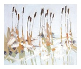 Cattails and Ice Prints by Julia Sutliff