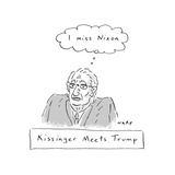 Kissinger Misses Nixon - Cartoon Premium Giclee Print by Kim Warp