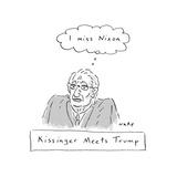 Kissinger Misses Nixon - Cartoon Giclee Print by Kim Warp