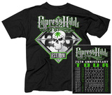 Cypress Hill- 25th Anniversary Tour (Front/Back) T-shirts