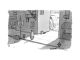 "A man passing an alley with a sign pointing to ""scenic area"" with a valley... - New Yorker Cartoon Premium Giclee Print by Jason Patterson"