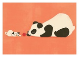 The Pug and The Panda Print by Jay Fleck