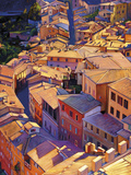 Above Siena Limited Edition on Canvas by Tom Swimm