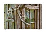 Antlers And Lantern Gicléedruk van Donald Paulson
