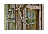 Antlers And Lantern Giclee Print by Donald Paulson