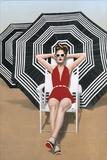 Bathing Beauty Limitierte Auflage auf Leinwand von Elise Remender