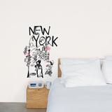 New York (Burfitt) - Duvar Çıkartması