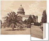 State Capitol Wood Print