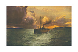 Sunset on the Columbia No. 54 Metal Print