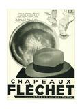 Chapeaux Flechet Metal Print