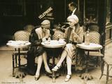 Terasse De Cafe 1924 Alu-Dibond
