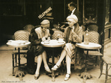Terasse De Cafe 1924 Metal Print