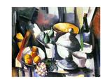 Maurice de Vlamnick - Nature Morte aux Fruits et a la Bouteille 1910 - Sanat