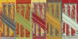 Brooklyn Bridge Limited Edition on Canvas by Mj Lew