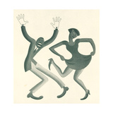 Double Charleston No. 34 Metal Print by Miguel Covarrubias
