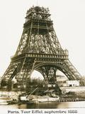 Tour Eiffel September 1888 Yellow Screen Metal Print
