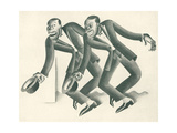 Vaudeville Team No. 28 Metal Print by Miguel Covarrubias