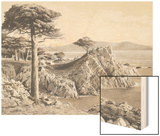 Midway Point 17 Mile Drive 1912 Wood Print