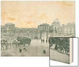 Entree du Chateau de Versailles Wood Print