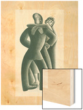 Couple Dancing No. 41 Wood Print by Miguel Covarrubias