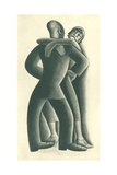 Couple Dancing No. 41 Metal Print by Miguel Covarrubias