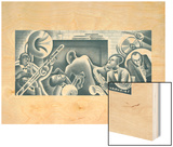 Orchestra No. 40 Wood Print by Miguel Covarrubias