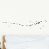 Dormir imaginer inventer songer rêver Wall Decal