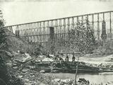 Chattanooga Railroad on Falling Water Bridge - Poster